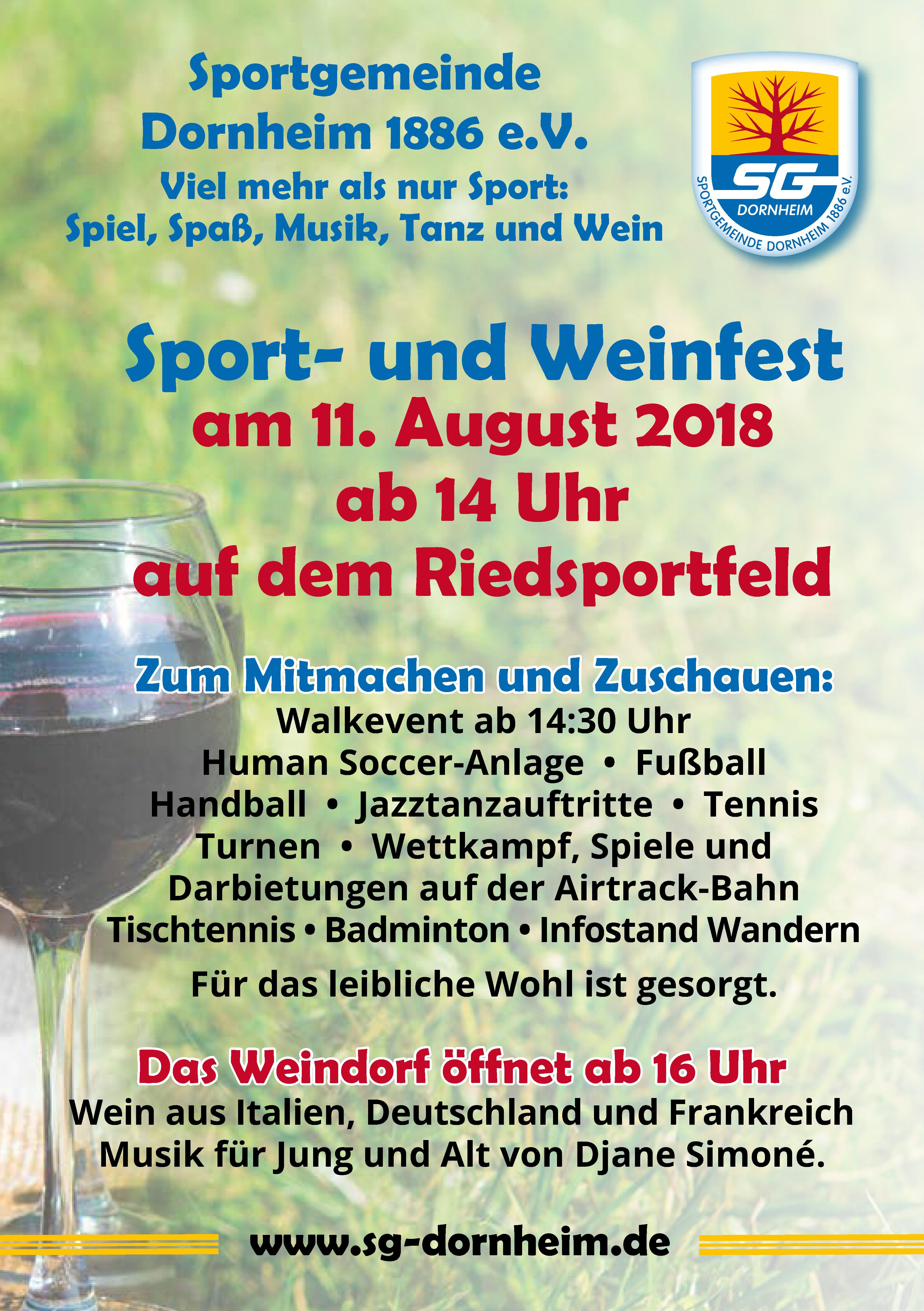Sport & Weinfest 2018